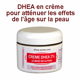 Dhea en crème atténuer vieillissement de la peau