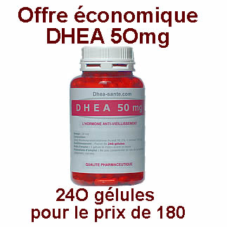 Offe DHEA 50 mg 240  gélules pour le prix de 180